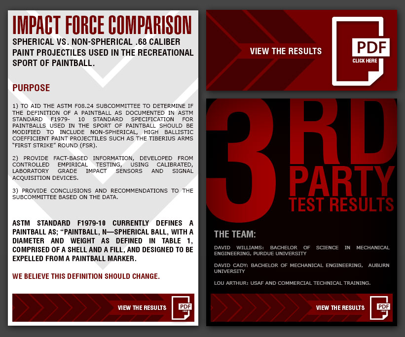 Impact Force Comparison Spherical vs. Non-spherical .68 Caliber Paint Projectiles Used In The Recreational Sport Of Paintball.